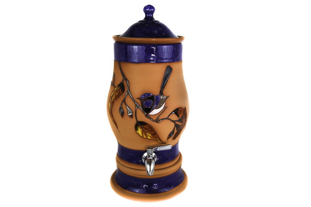 Terracotta Superb Fairy-wren Bird Small Water Purifier