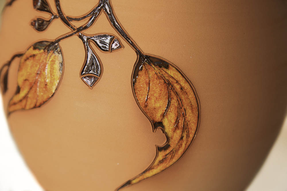 Terracotta Sandy Bands with Autum Orange Leaves
