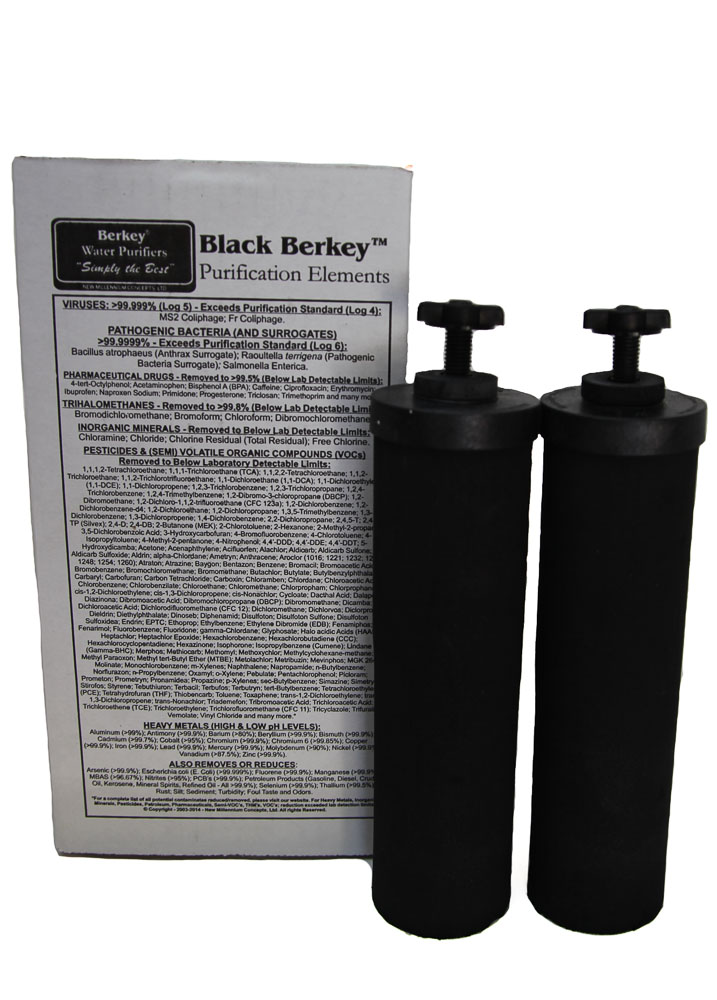 replacement Black Berkey Water Purification Elements (2 Pack)