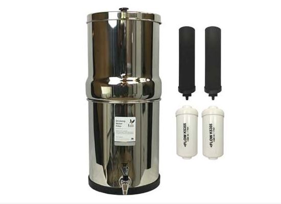 Berkey 16L (8/8) Stainless Water Purifier - Berkey Black Filters