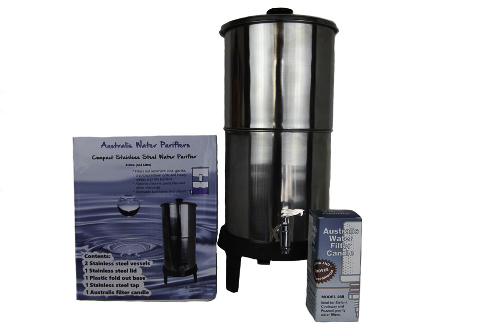 Australis Compact Stainless Steel Water Purifier 8 Litre (4/4) - Click Image to Close