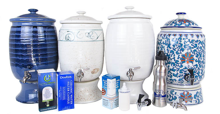 Water filters, cartridges, candles and taps