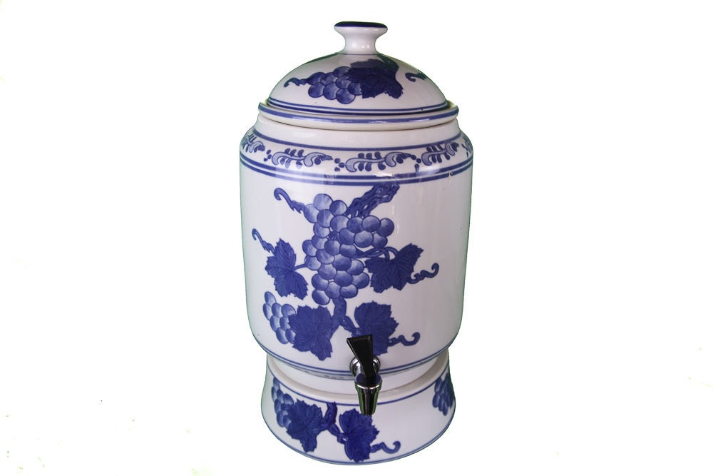 Ming Blue Grape Water Purifiers - Faded glaze on tank
