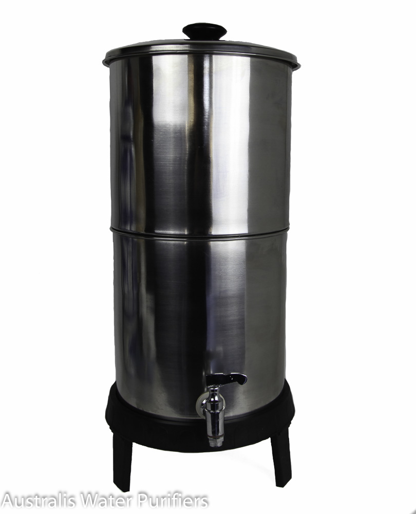 Australis Compact Stainless Steel Water Filter 8 Litre (dint)