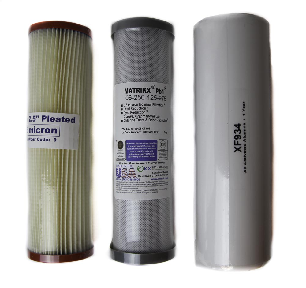 3 Pack Complete set undersink filters cartridges Incl Postage Au