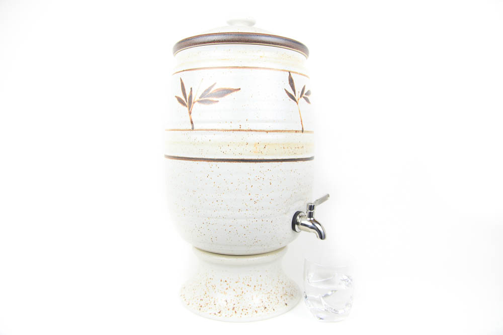Billabong Stoneware Water Purifier - Beige/Bamboo (Aust.) - Click Image to Close