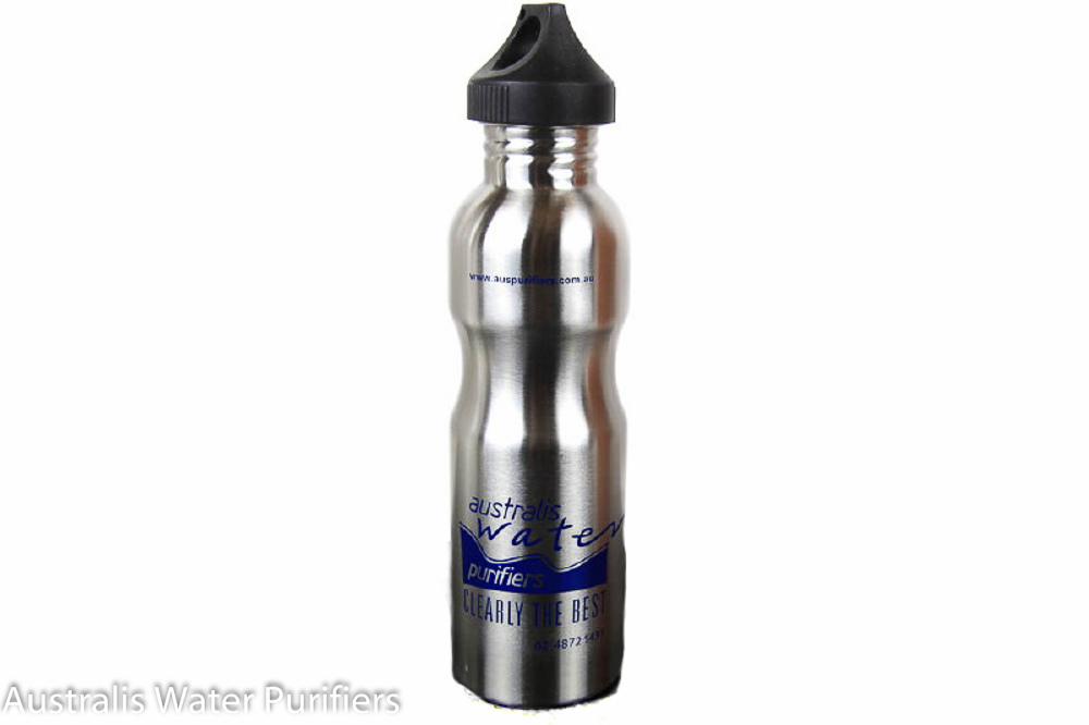 Stainless Steel Water Bottle - 900ml with Loop Cap - Australis