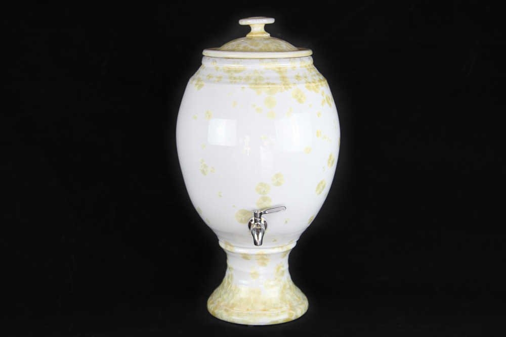 Crystalline Glaze Water Filter -White Pearl and Gold Crystal 15L